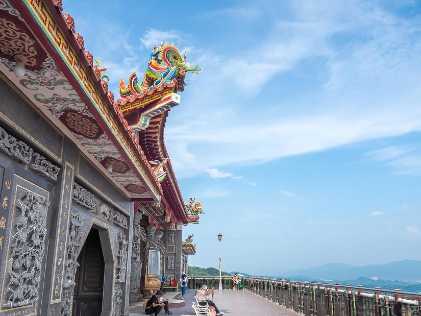 Front of Bishanyan Kaizhang Shengwang Temple (Bishan Temple), Taipei