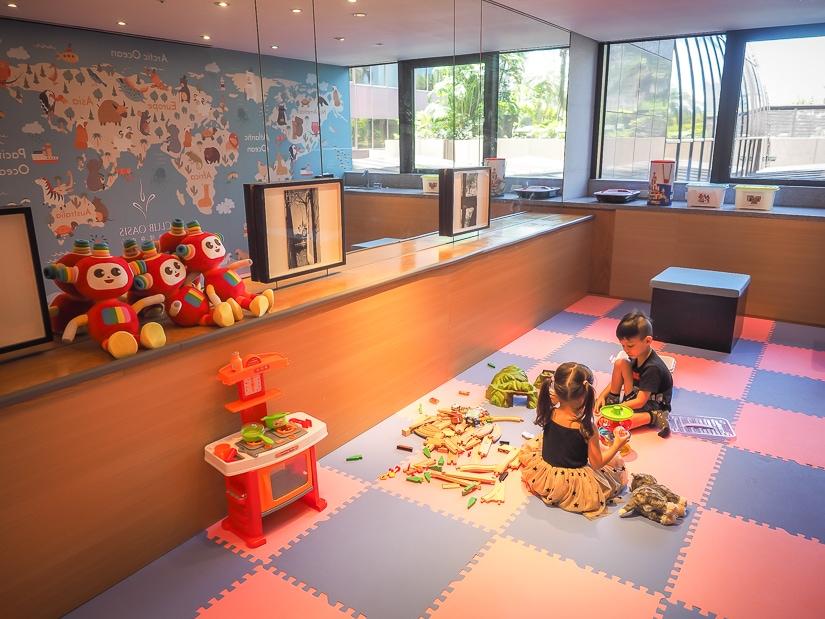 Children's playroom at grand Hyatt Taipei