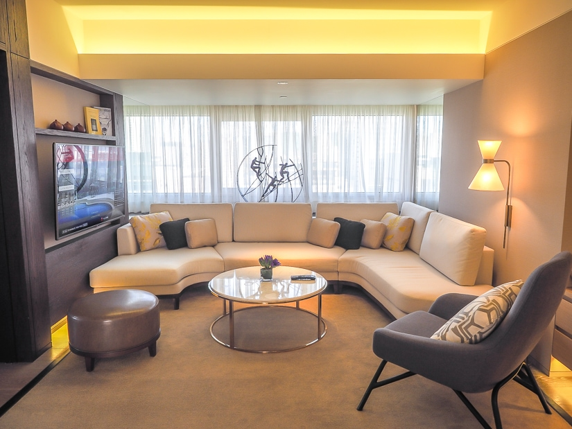Living room of Grand Executive View Suite at Grand Hyatt Taipei