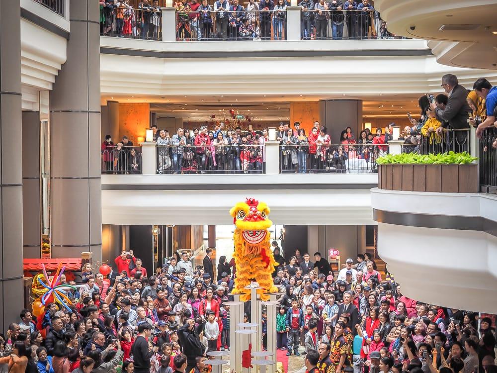 Lion Dance at Grand Hyatt Taipei, one of the best Taipei February events