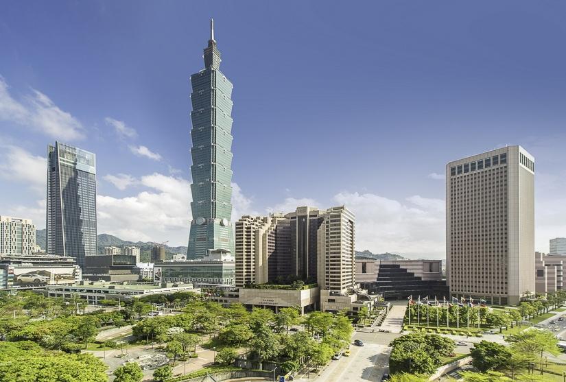 View of Grand Hyatt Taipei and Taipei 101