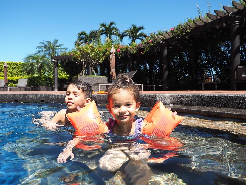 Kids at Oasis pool, Grand Hyatt Taipei