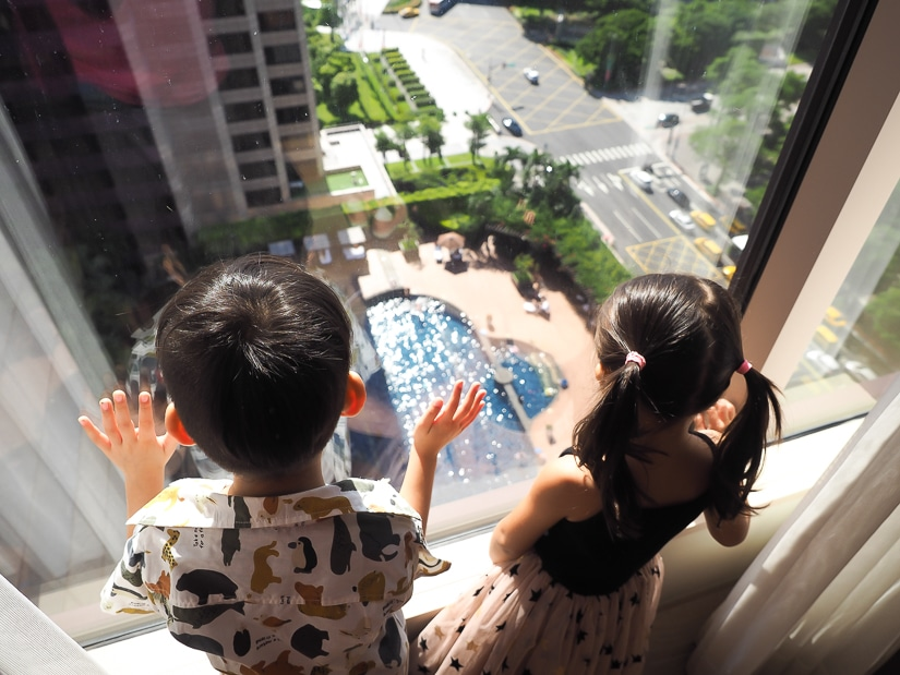 View of Oasis Pool at Grand Hyatt Taipei from Grand Executive Suite
