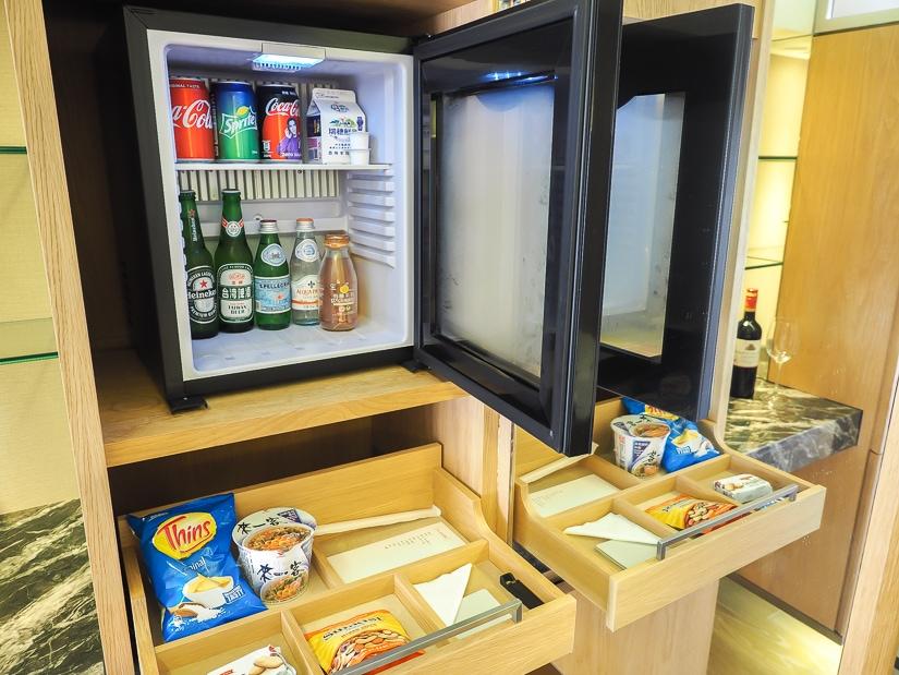 Mini fridge in Grand Executive Suite and Grand Hyatt Taipei
