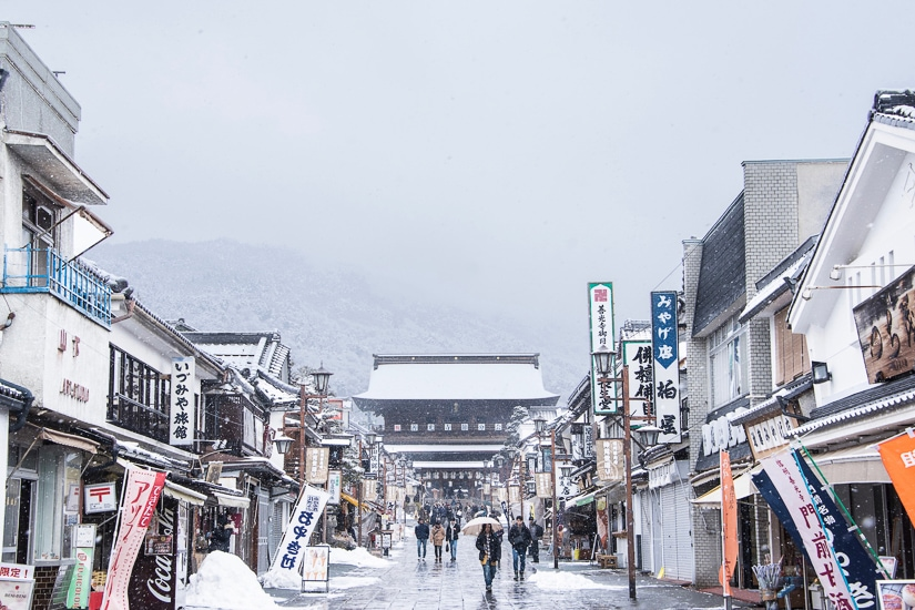 Nagano, where of the best places to visit in Japan in winter