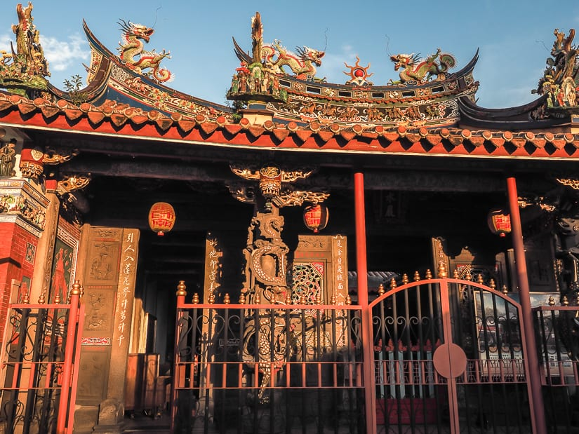 Front of Bangka Qingshui Temple in Taipei