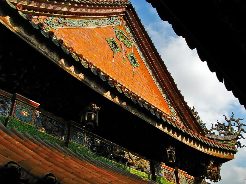 Roof of Zushi Temple in Sanxia, New Taipei City
