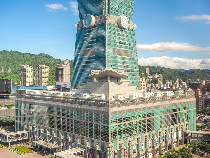 Taipei 101, also cool indoor, even in July