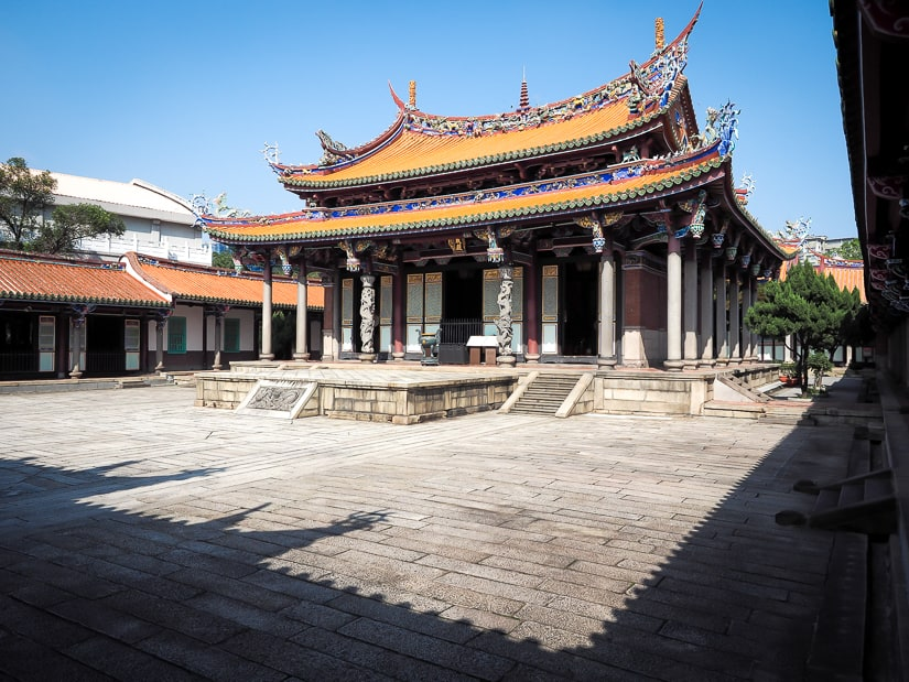 Main Hall of Confucius Temple Taipei