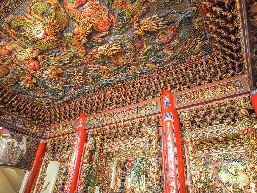 Ceiling details on Taipei Jingfu Temple