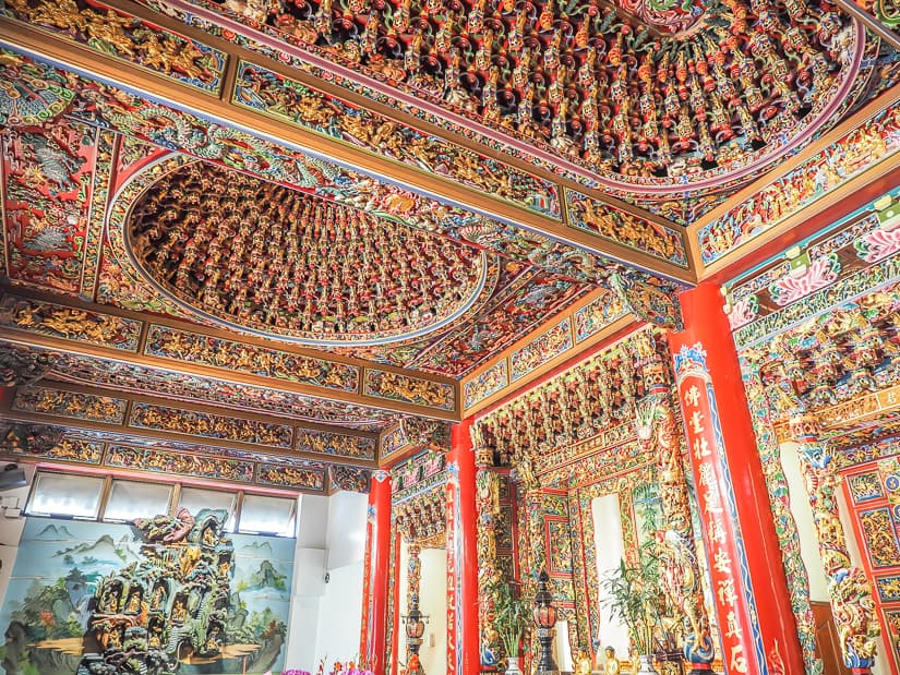 Temples in Taiwan are incredible ornate and detailed