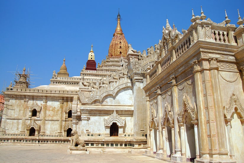 Close up of Ananda Temple in Myanmar