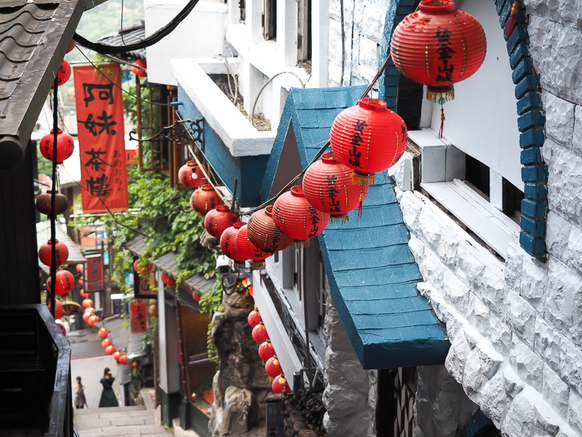 Beautiful red lanterns on Jiufen Old Street