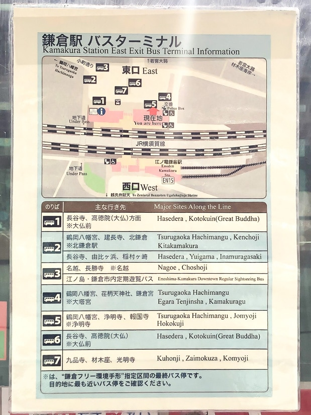 Kamakura bus station routes