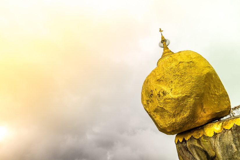 Kyaiktiyo Golden Rock, one of the most important pilgrimage sights in Myanmar
