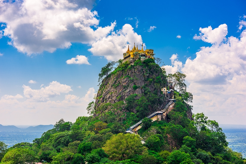 Mt. Popa near Mandalay in Myanmar
