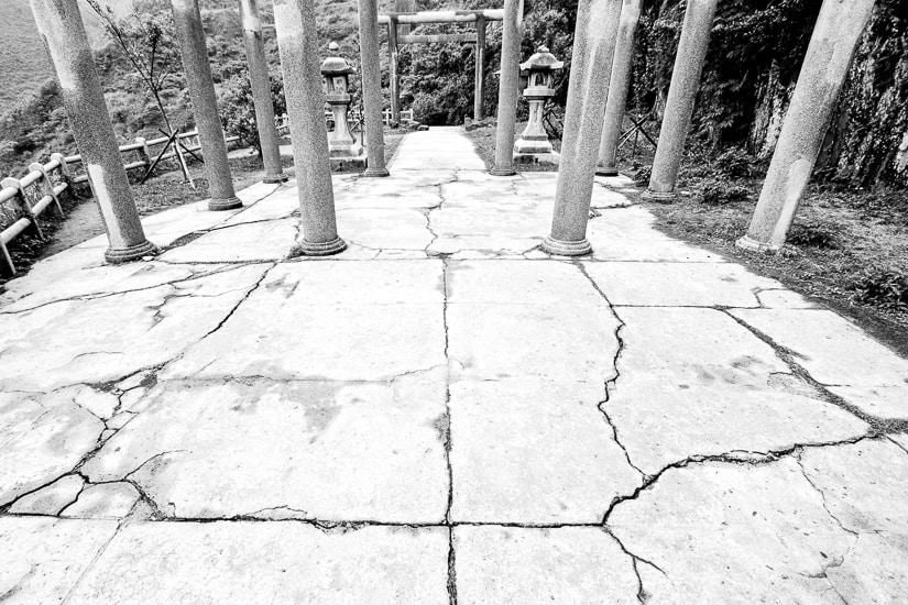 Remains of Japanese Shinto Shrine at Jinguashi
