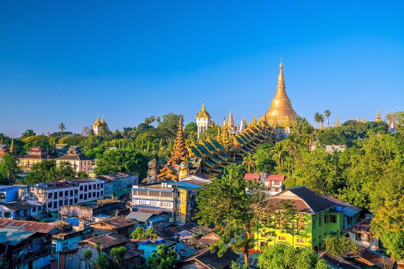 Shwedagon, one of the top pagodas in Myanmar