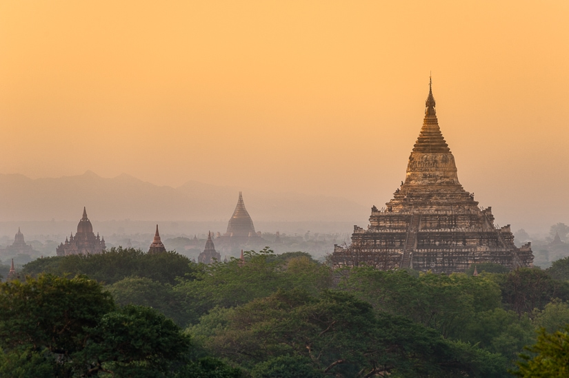 Shwesandaw Pagoda, a famous Myanmar temple in Bagan