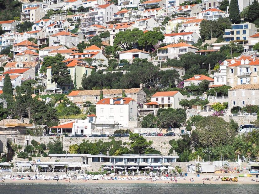 Banje Beach Dubrovnik viewed from the sea