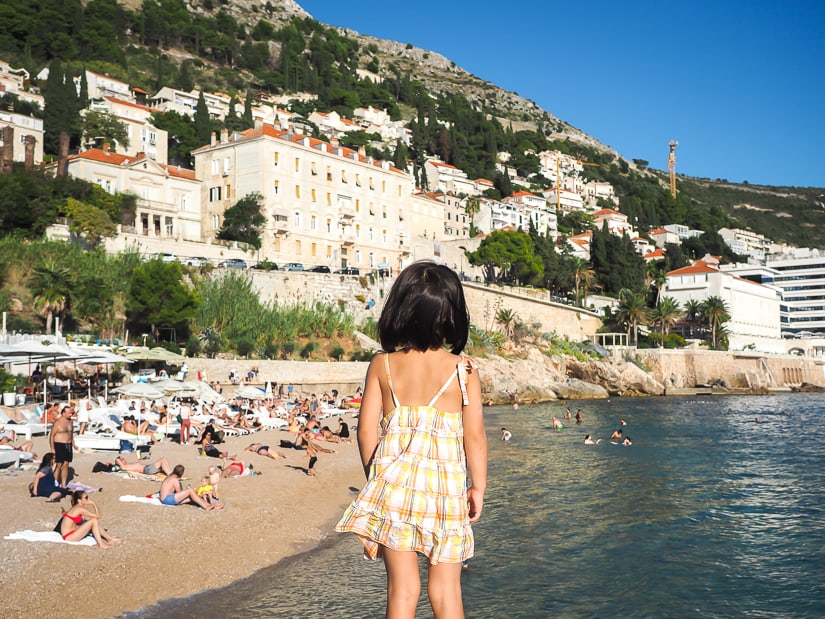 Banje Beach, one of the best things to do with kids in Dubrovnik