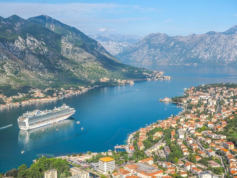 Bay of Kotor viewed from Saint John's Fortress (Kotor Fortress)