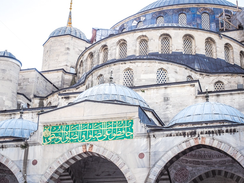 Front of the Blue Mosque, Istanbul