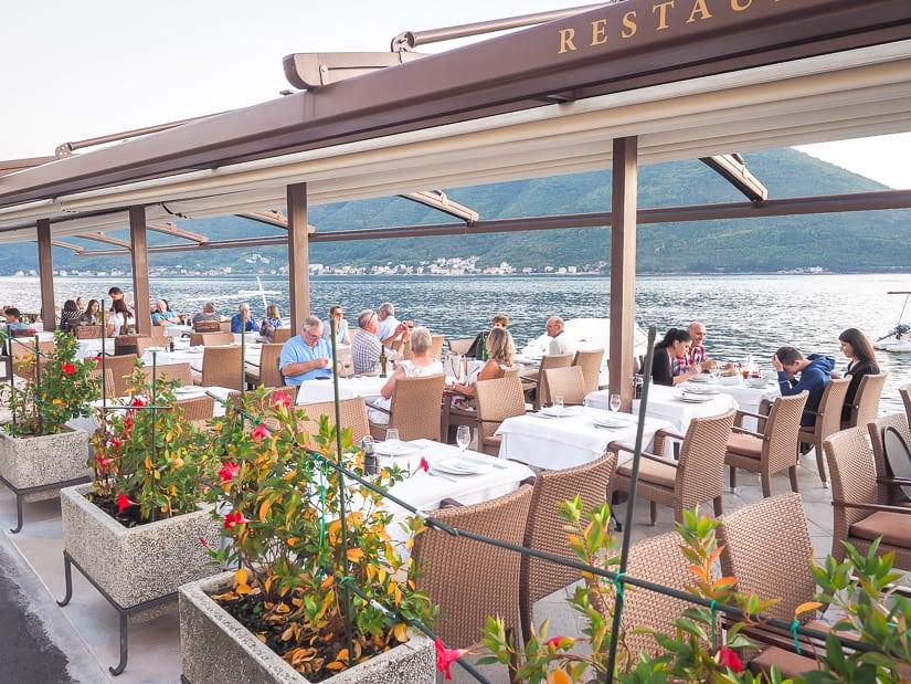 Conte restaurant, one of the best restaurants in Perast