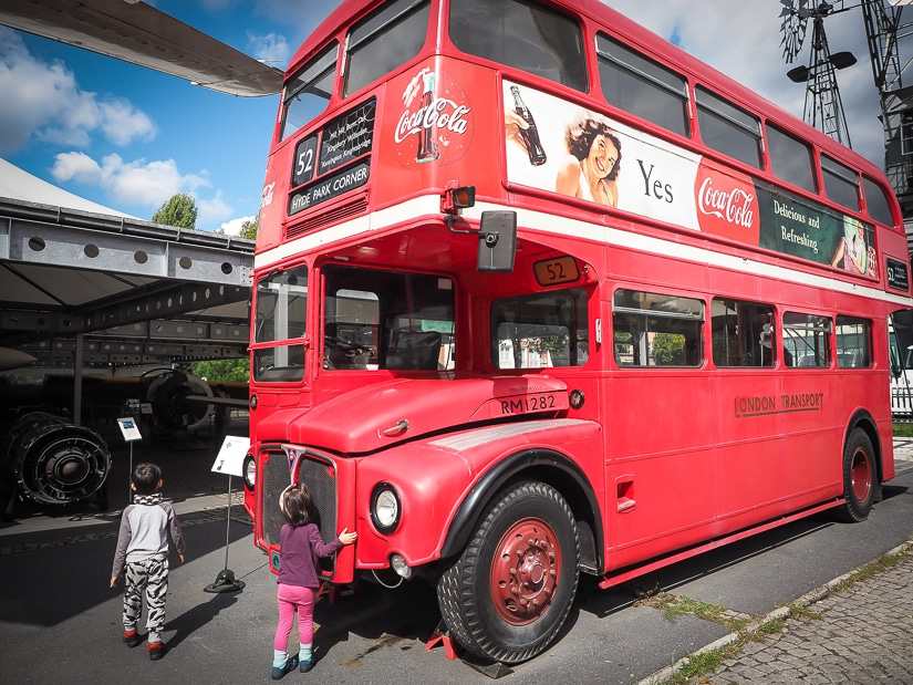 Double decker bus at Rahmi M. Koc Museum Istanbul