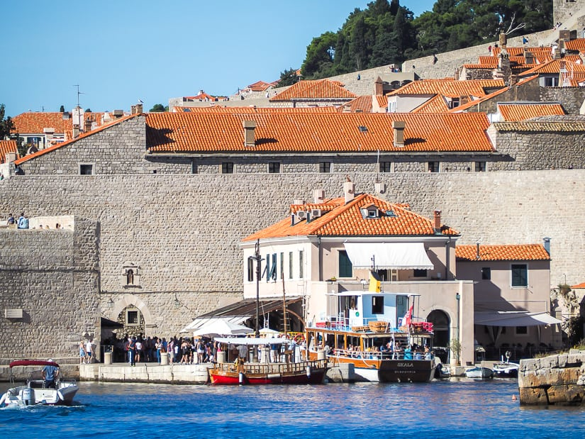 View of our family-friendly hotel in Dubrovnik