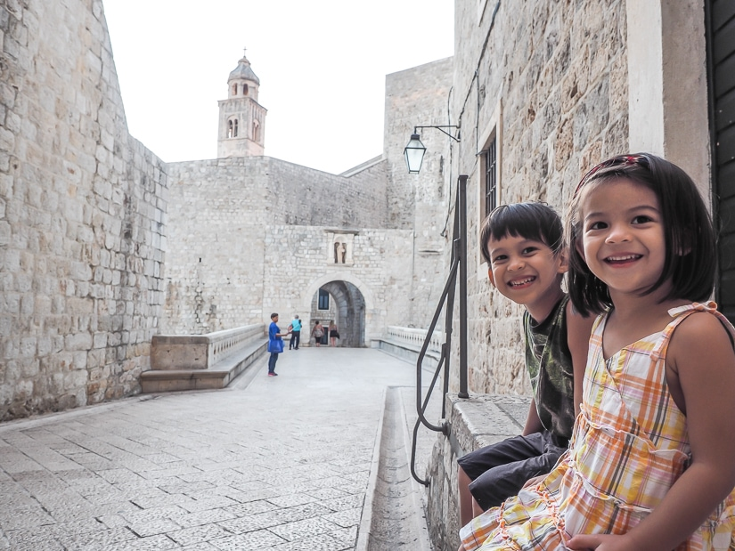 Visiting Dubrovnik Old Town with kids