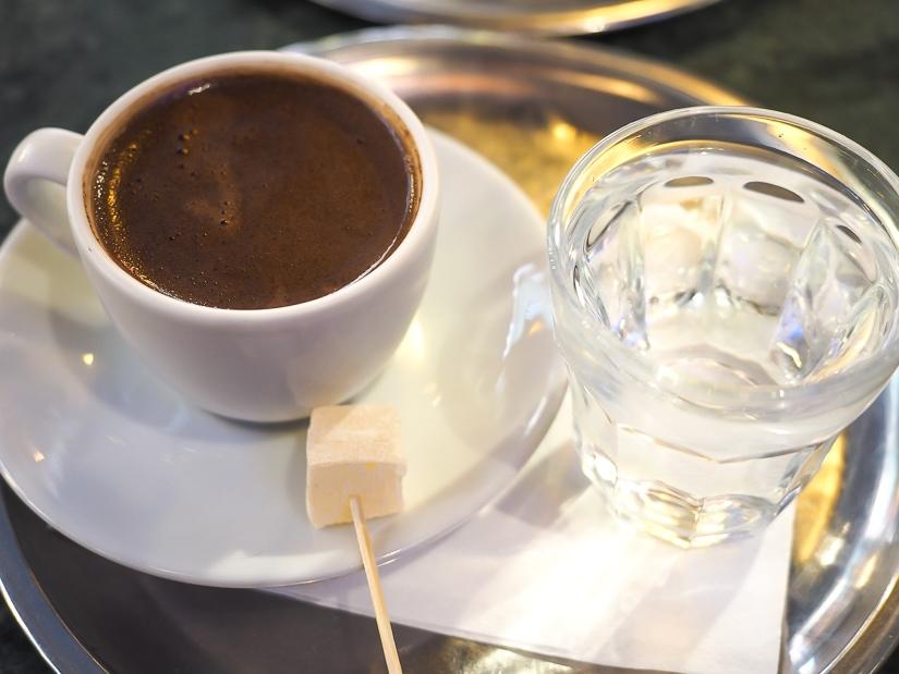 Turkish coffee at Fazil Bey, Kadikoy