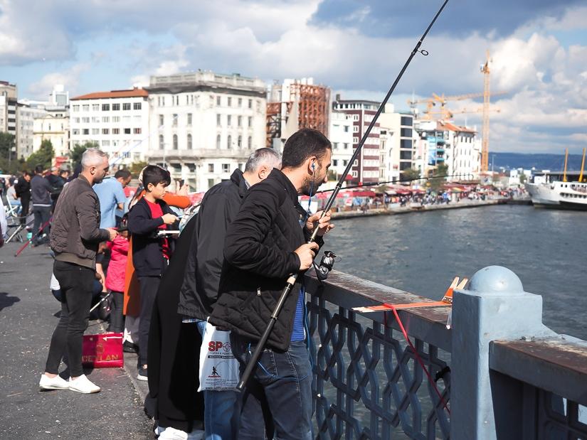 Fishermen on Galata Bridge, Istanbul