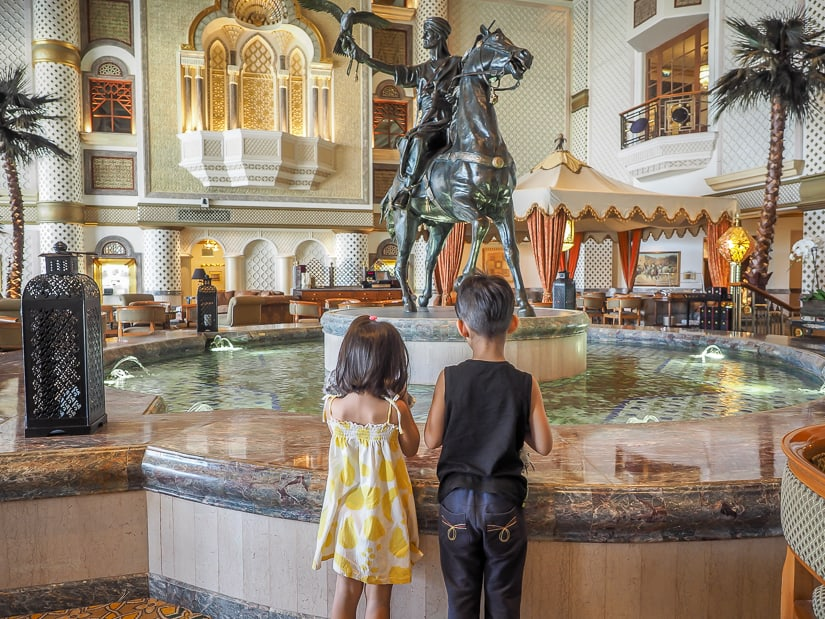 Lobby of the Grand Hyatt Muscat, one of the best places to stay in Muscat with kids