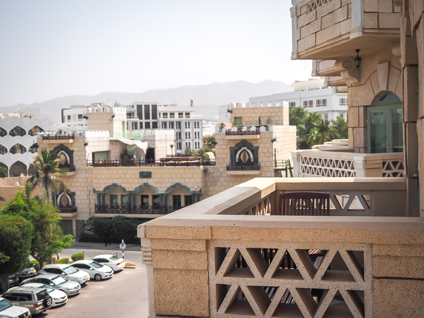 View from our balcony at the Grand Hyatt Muscat