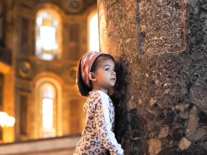 Visiting the Hagia Sophia with kids
