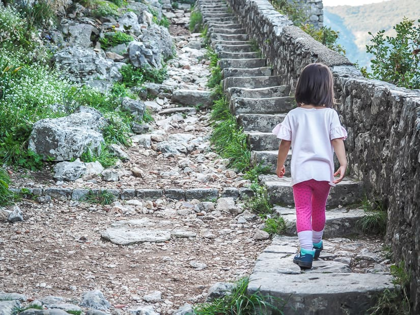 Is it possible to hike to Kotor Fortress with kids? Yes!