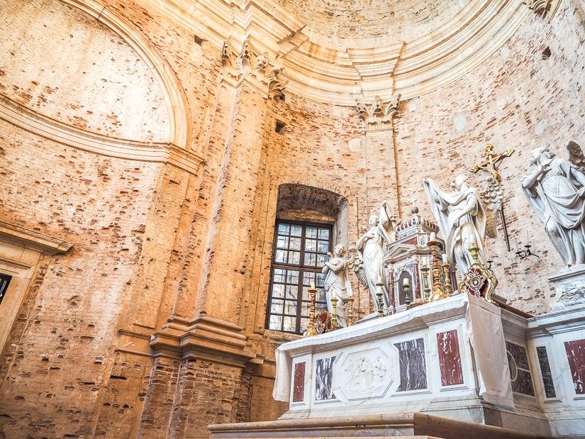 Inside the main room of the Church of St. Nikola, Perast