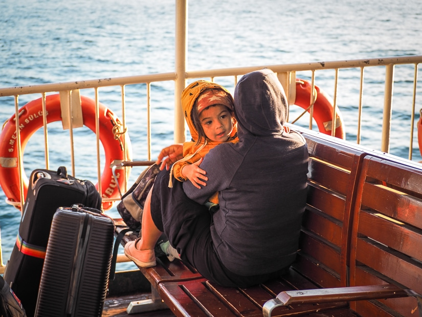 Taking the ferry in Istanbul with children