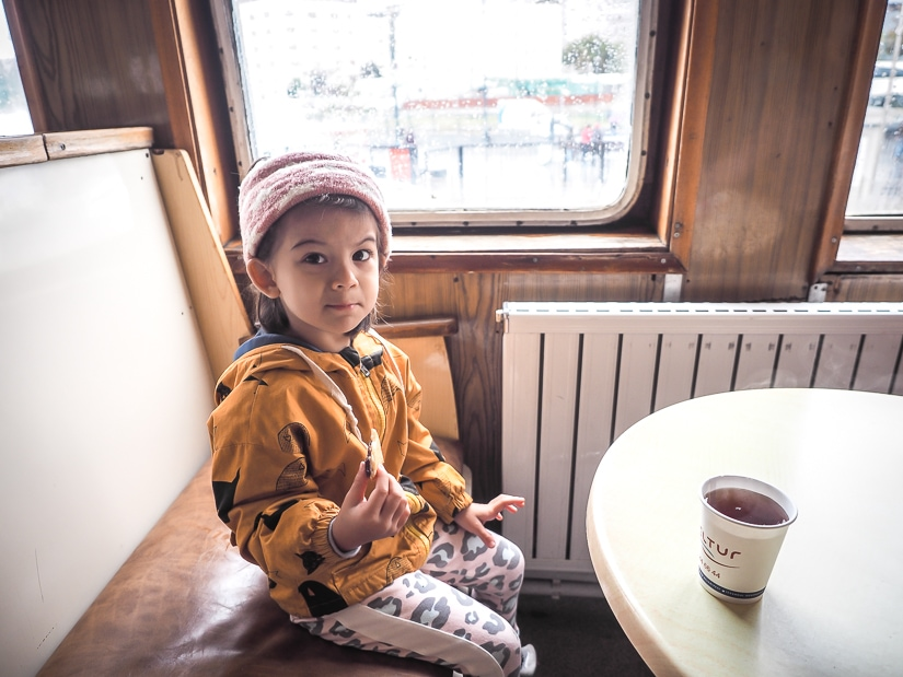 Riding the Istanbul ferry with kids