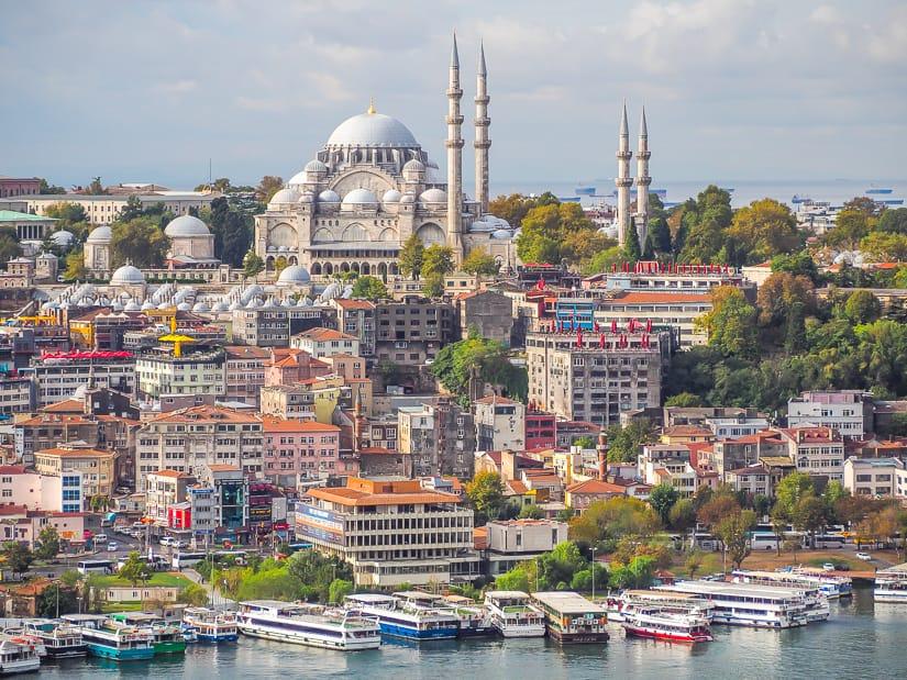 Suleymaniye Mosque viewed from Galata Tower