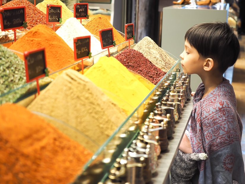 Visiting the Istanbul Spice Market with kids