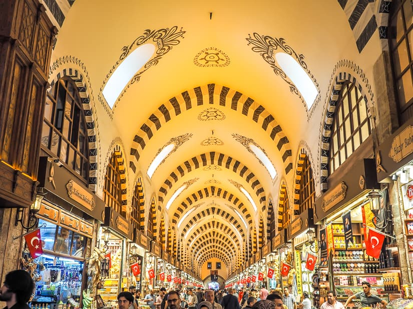 View of the interior of the Istanbul Spice Market