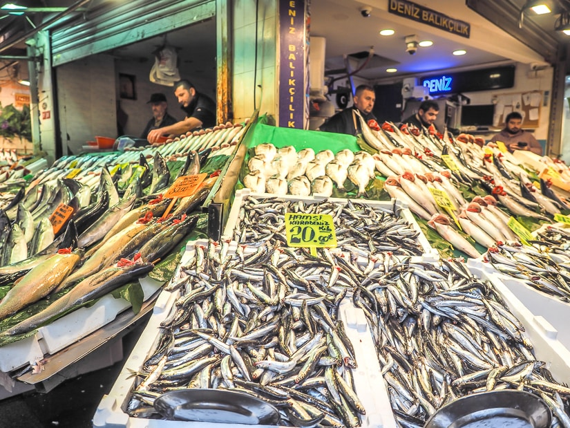 Kadikoy fish market, one of the best places to visit in Asian Istanbul