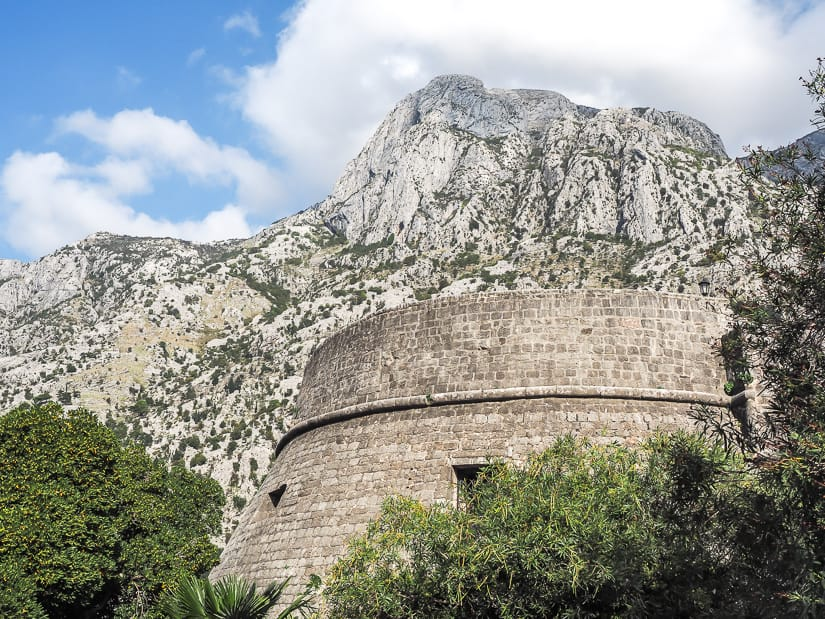 Kamapana Tower and Citadel, Kotor City Walls