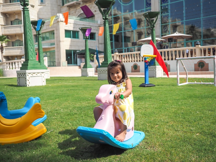 Children's activities at Grand Hyatt Muscat for the Friday brunch