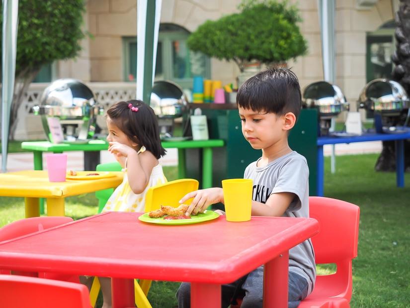Kids' food at the Grand Hyatt Muscat Friday brunch