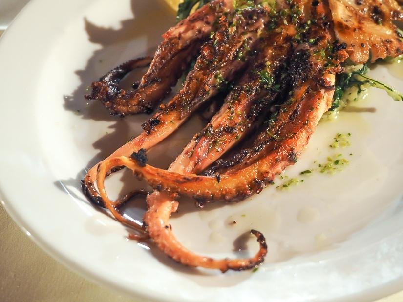 Grilled octopus at Konoba Skolji Perast