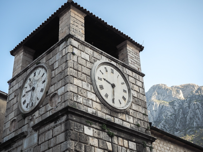Clock Tower, Trg od Oružja, Kotor Old Town