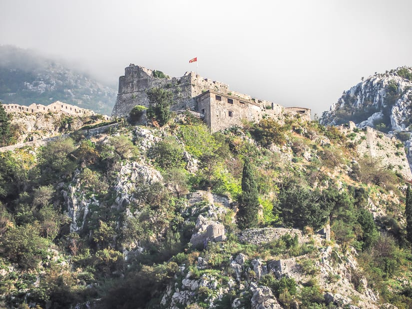 View of Kotor Fortress (Fortress of Saint John)